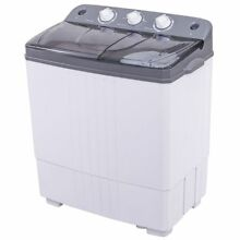 Giantex Portable Twin Tub Washing Machine   White