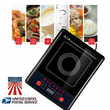 110V Electric Cooktop Countertop Portable Induction Cooker LED 2000W Kitchen Use