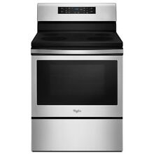 Whirlpool 5 3 cu  ft  Electric Range with Convection in Stainless Steel