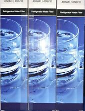 BRAND NEW SEALED REFRIGERATOR WATER FILTERS 4396841 4396710 3 PACK