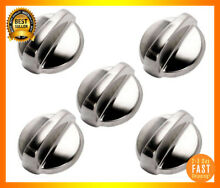 Gas Stove Replacement Knobs Stainless Steel Oven Range Knob Parts Supplies New