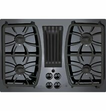 GE Profile Series PGP9830DJBB 30  Built In Gas Downdraft Cooktop   Black