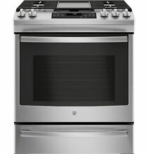 GE Appliances JGS760SELSS 30  Slide In Convection Gas Range   Stainless Steel
