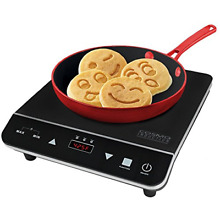 Cosmo Portable Electric Induction Cooktop with Rapid Heating  Sensor LED Safety