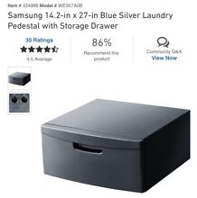 Samsung WE357AOB   27 in Blue Silver Laundry Pedestal with Storage Drawer
