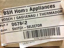 067842 Bosch Gaggenau Thermador Dishwasher Switch Selector   Brand New   OEM