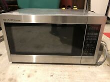 Sharp Countertop Microwave Oven 2 2 Cu  Ft  1200w Stainless Steel Sensor Cooking
