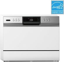 Whynter Energy Star Countertop Portable Dishwasher  6 Place Setting LED  White