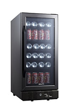 NewAir Built In Beverage Cooler and Refrigerator  Black Stainless Steel Mini 96