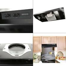 Broan Black Metal 42 inch 2 speed 4 way Convertible Under Cabinet Range Hood