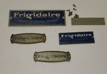Vintage ANTIQUE  Frigidaire Refrigerator Part  PRODUCT TAG GM Lot Of 5
