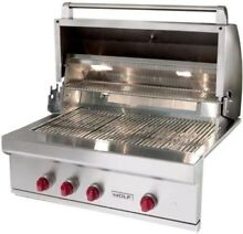 NIB Wolf 36 Inch Outdoor Built in Stainless Steel Gas Grill with Rotisserie OG36