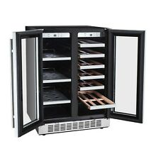 Titan Products 21 Bottle Dual Zone Convertible Wine Cooler