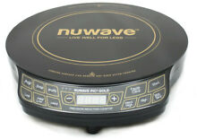 NuWave 12 in  PIC Gold Precision Induction Cooktop in Black with 10 5 in  Fry
