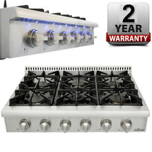 Pro Style 36  THOR KITCHEN Stainless HRT3618U Gas Cooktop Rangetop  Six Burners