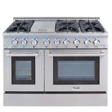 THOR Dual Fuel 48 Inch 6 Burner Gas Range Double Electric Oven Updates