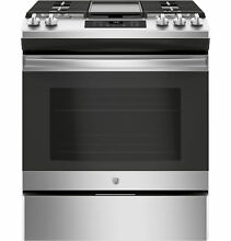 GE Appliances JGSS66SELSS 30  Slide In Front Control Gas Range   Stainless Stee