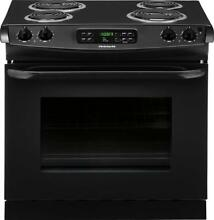 Frigidaire 30  Black Drop In Coil Top Electric Self Cleaning Range FFED3015PB