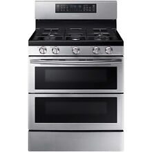 Samsung Stainless Steel 30  Gas Freestanding Range Convection NX58K7850SS