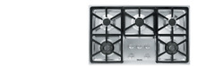 KM3474G Miele 3000 Series 36  Natural Gas Cooktop with Hexa Grates   Stainless S