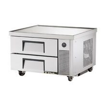 True TRCB 36 Refrigerated Base with Marine Top  2 Drawers  36 3 8 W