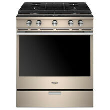 Whirlpool WEGA25H0HN 30  5 8 cu  ft  Smart Slide in Gas Range Sunset Bronze