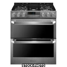 LG SIGNATURE 7 3 CuFt Double Oven Dual Fuel Convection Range WiFi LUTD4919SN