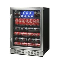 NewAir 23 4 in  92 Bottle Wine and 177 Can Built In Beverage Cooler