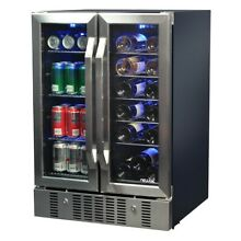 Wine Beverage Cooler 18  Bottle 60 Can Dual Zone Built In Compressor 23 5in