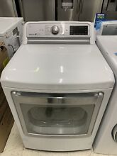 LG DLEX7600WE 7 3 cu  ft  Ultra Large Capacity TurboSteam  Electric Dryer