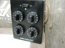 Jenn Air   Control Unit w 5 switches and knobs    Black   Two Speed