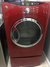 G E Red Dryer  Works Great  Moving And Can t Take It With Me