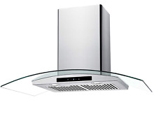 CIARRA 36  Convertible Range Hood 450 CFM Ducted Ductless with LED Control Steel