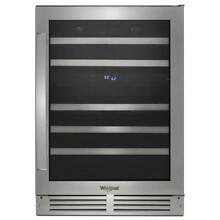 Whirlpool WUW55X24HS 24  Stainless 46 Bottle Wine Cooler