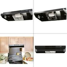 Rl6200 series 30 in  ductless under cabinet range hood with light in black   fan