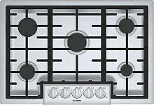 Bosch NGM8056UC 800 Series 30 Inch Wide Built In Gas Cooktop with 5 Sealed Burne