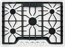 Frigidaire Gallery 30  5 Sealed Burners White Gas Cooktop FGGC3047QW