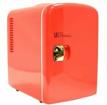 Uber Appliance Chill 6 can Retro Personal Mini Fridge 4L Cooler Home Office Red