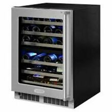 Marvel 40 Bottle Professional High Efficiency Dual Zone Built In Wine Cooler