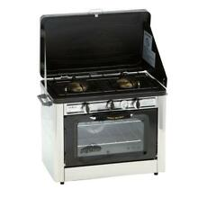 Outdoor Double Burner Propane Gas Range and Stove  Heat Thermometer   Camp Chef