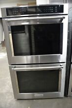 KitchenAid 30  Stainless Steel Double Electric Wall Oven KODT100ESS