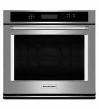 Kitchenaid Kose507ESS 27 Inch Wide 4 3 Cu Ft  Electric Wall Oven with Even Heat