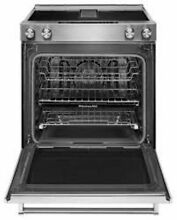 KitchenAid KSEG700EBS Slide in Electric Range 30in Black Stainless Convection