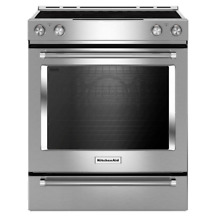 Kitchenaid Kseg 700ESS 30  Stainless Slide in Electric Range Stove Smooth Top