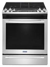 Maytag MGS8800FZ 30 Inch Slide in Gas Range  in Fingerprint