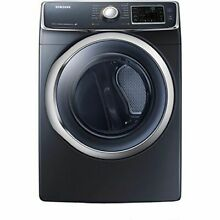New Samsung 7 5 cu  ft  Capacity Electric Front Load Dryer   Onyx   DV45H6300EG