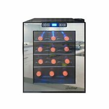 Vinotemp 12 Bottle Mirrored Thermoelectric Wine Cooler