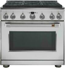 GE Cafe 36  Stainless Steel Professional 6 Burner Gas Range NEW  CGY366P2MS1