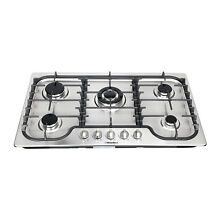 Windmax 34inch 5 Burner Built in Gas on Stainless Steel Hob With Wok Burner USA