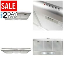 Under Cabinet Range Hood 200 CFM   Ducted Ductless Convertible Top Read Fan LED